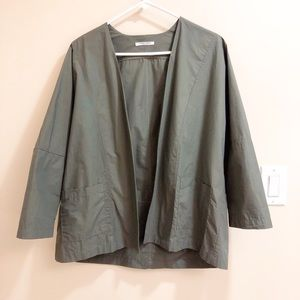 Jackets & Blazers - Olive Green Duster Jacket